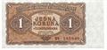 Jednokorunová bankovka, rok 1954