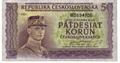 Padesátikorunová bankovka, rok 1945