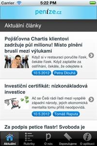Mobilní aplikace RSS čtečka