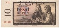 Desetikorunová bankovka, rok 1960