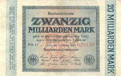 20 miliard marek, říjen 1923