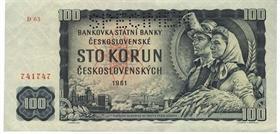 Stokorunová bankovka, rok 1961