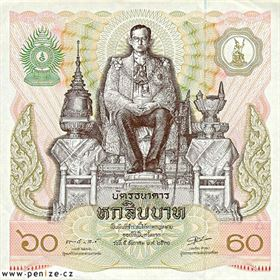 Thajský baht: 60