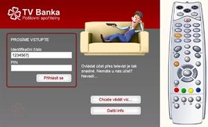 Demo verze TV Banky od Poštovní spořitelny