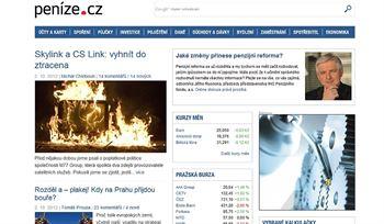 Peníze.cz po redesignu