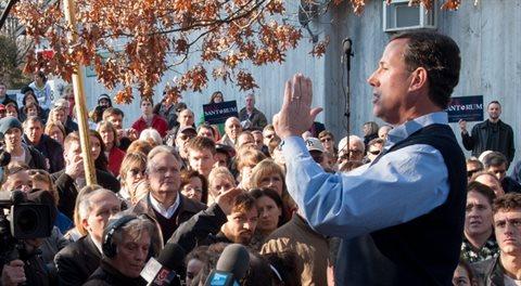 Střelec Santorum prezidentem? Těžko