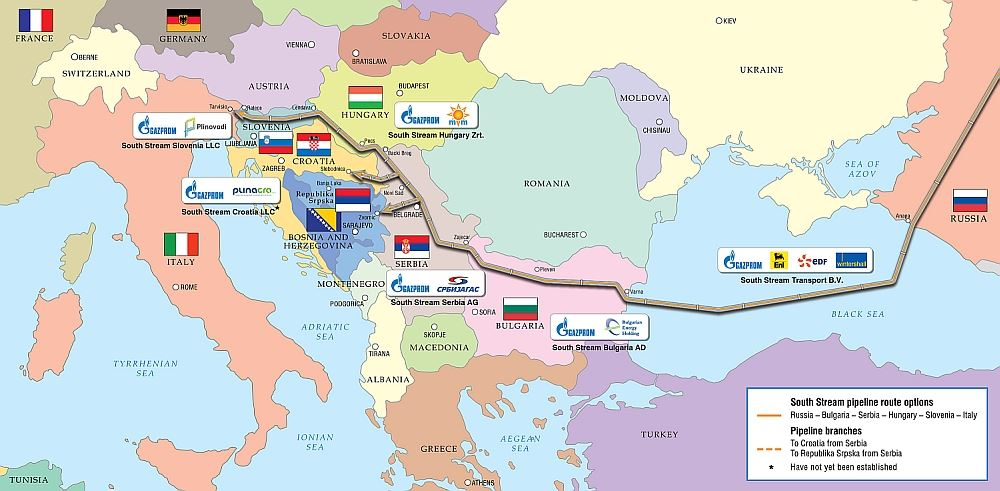 Plánovaný South Stream