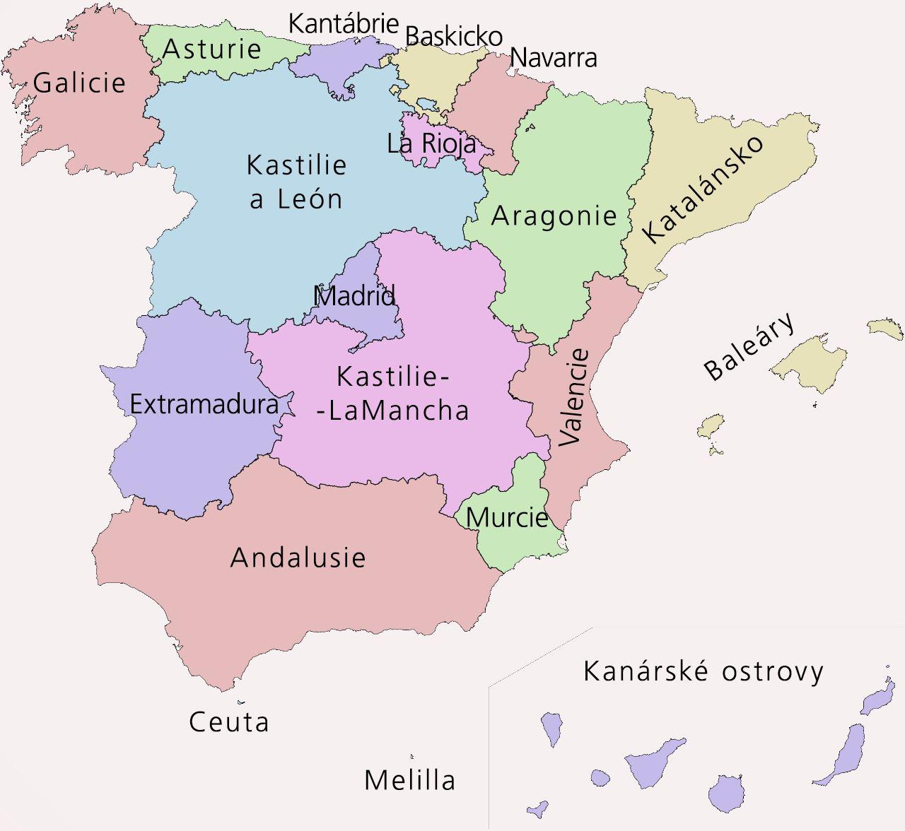 Regionální členění Španělska