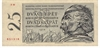 Pětadvacetikorunová bankovka, rok 1958