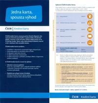 Česká spořitelna kreditní karta - leták