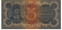 Pětikorunová bankovka, rok 1921