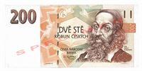 Dvousetkorunová bankovka, rok 1998