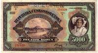 Pětitisícikorunová bankovka, rok 1920