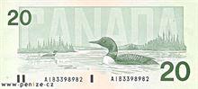 Kanadský dolar 20