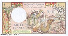 Džibutský frank 1000
