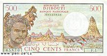 Džibutský frank 500