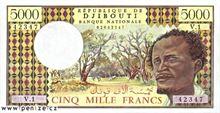 Džibutský frank 5000