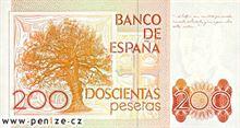 Španělská peseta 200