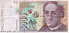 Španělská peseta 5000