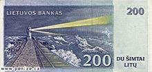 Litevský litas 200