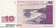 Lotyšský lat 10