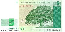 Lotyšský lat 5