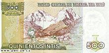 Peruánský nuevo sol 500