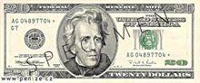 Americký dolar 20