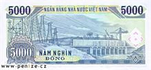 Vietnamský dong 5000
