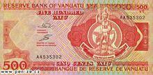 Vanuatský vatu 500