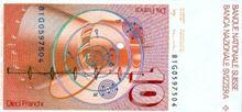 Švýcarský frank 10