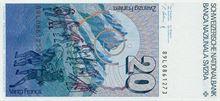 Švýcarský frank 20