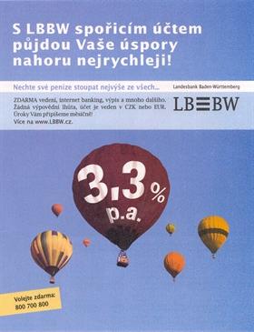 Reklama LBBW na spořící účet