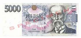 Pětitisícová bankovka, rok 1999