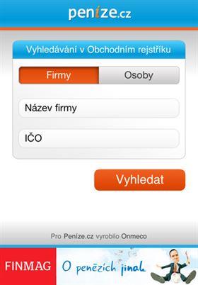 Aplikace Obchodní rejstřík