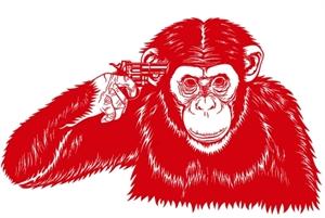 šimpanz propadl hazardu