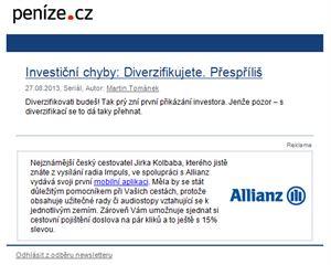 Partnerství denního newsletteru Peníze.cz