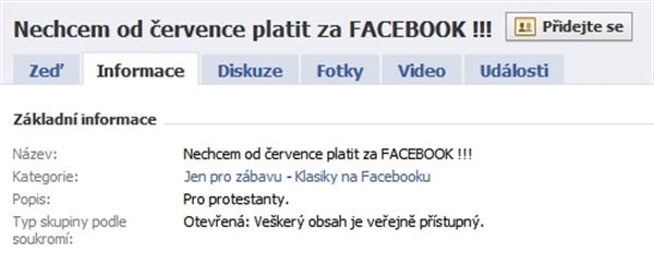 Nechci platit za Facebook