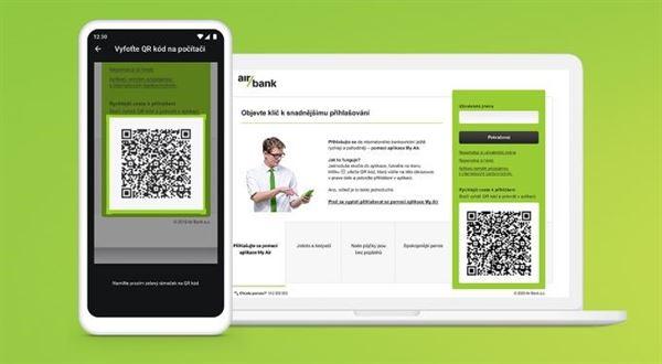 Air Bank zjednoduší přihlášení k účtu, stačí QR kód