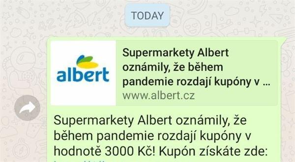 Kupony pro nákup v Albertu? Pozor na nový podvod