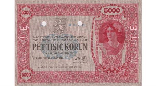 Nejvzácnější bankovka z Česka jde do dražby