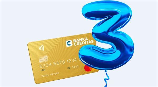 Zlatá karta na tři roky zdarma, láká Creditas