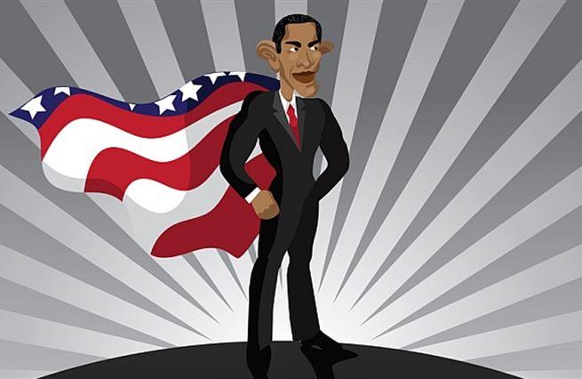 Barack Obama rozpuštěný a vypuštěný