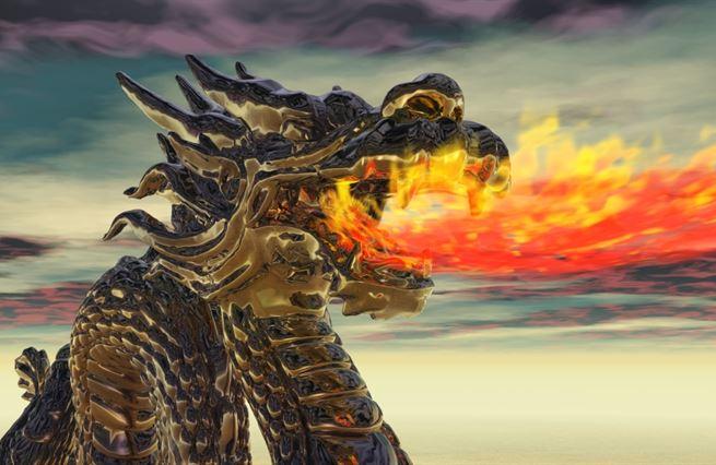 Čínský drak plive oheň a ruší internet