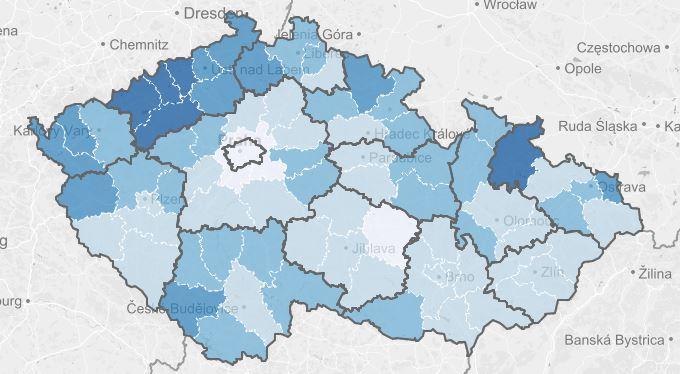 Nová mapa ukazuje, jak Češi bankrotují. Varuje i před šmejdy