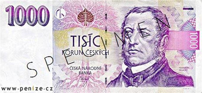 Muzeum bankovek - detail bankovky Česká koruna 1000 | Peníze.cz